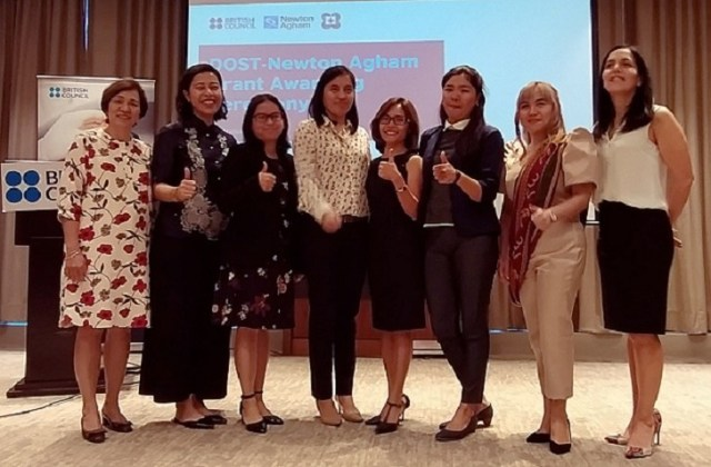 DOST, Newton Agham, scholarships, researchers, female, UK, Philippines