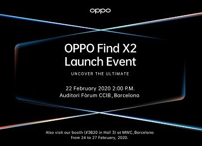 OPPO,Find X2, Barcelona, Launch event, MWC 2020, smartphone