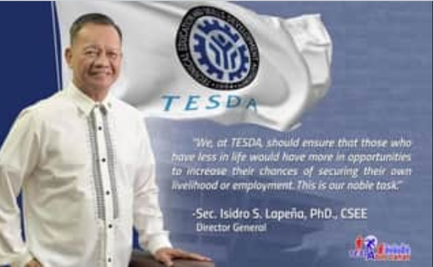 Pictured is TESDA Director General and Secretary Isidro S. Lapeña. He ordered creation of nationwide OFW Desks.