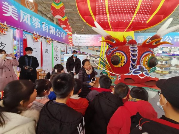 A kite featuring a Chinese New Year painting (Nianhua)