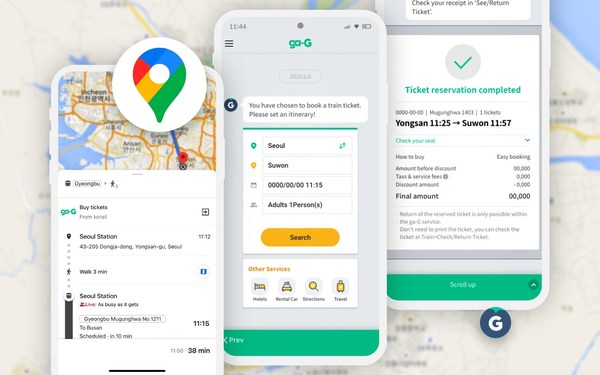 SyncTree allows any traveller to book train tickets on Korea's national rail system directly on Google Maps through ga-G, in a partnership between Korail and Ntuple