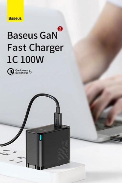Baseus First Ultralight 100W QC5 GaN Laptop Charger