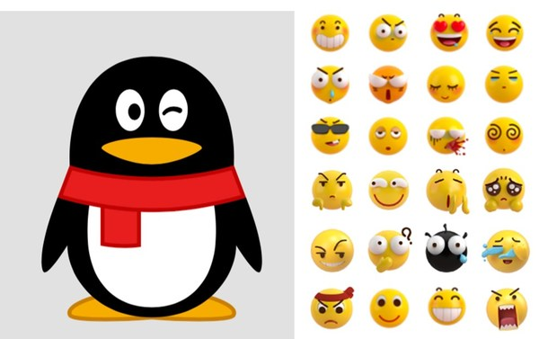 The success of QQ as one of the most commonly used instant messengers in China has made the QQ logo and QQ emoji very popular in the country. Source: Tencent QQ