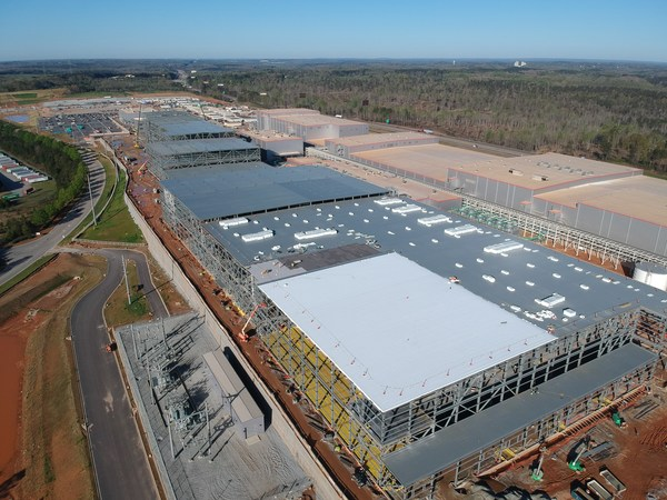 1Photo of battery plant 1 and 2 being built by SK Battery America, a U.S. battery business unit of SK Innovation, in Georgia, U.S.