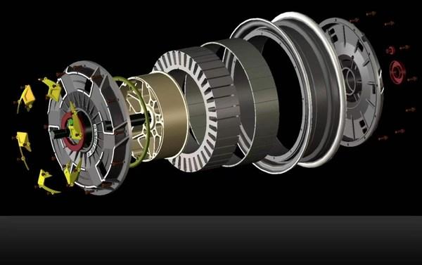 Internally designed electric motor