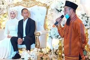 A Muslim wedding ceremony.