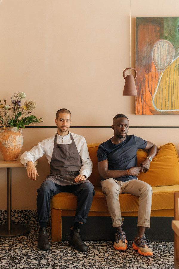 Jeremy Chan and Iré Hassan-Odukale of London's Ikoyi, winner of the American Express One To Watch Award 2021, part of The World's 50 Best Restaurants awards programme. Image credit: Maureen M. Evans