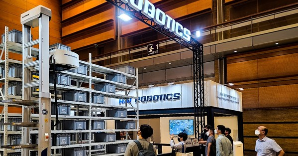 HAI ROBOTICS showcased the HAIPICK A42 autonomous case-handling robot at the Smart Factory+ Automation World 2021 in Seoul, South Korea.