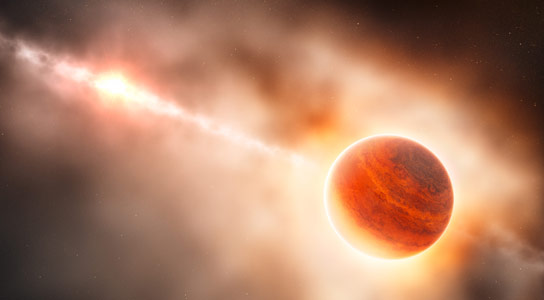 A Planet Forming Around a Young Star