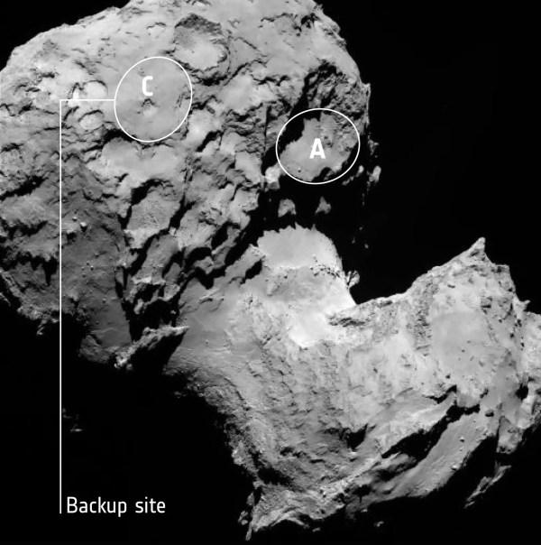 Astronomers Choose Primary Landing Site for Rosetta's Lander