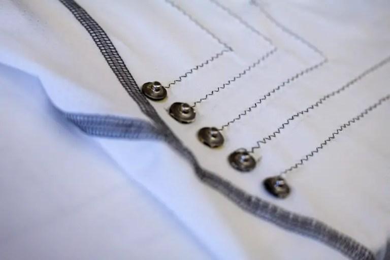 Carbon Nanotube Threads Woven Into Shirt
