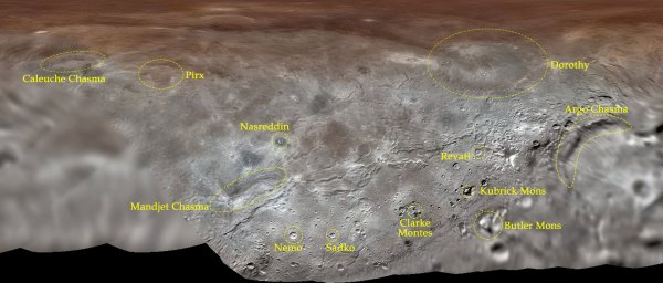 Plutos Moon Charon Gets First Official Feature Names