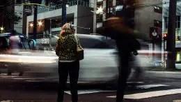 Crossing Busy Street