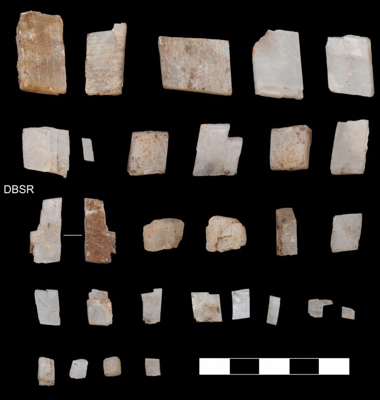 Crystals Collected by Homo sapiens in Kalahari