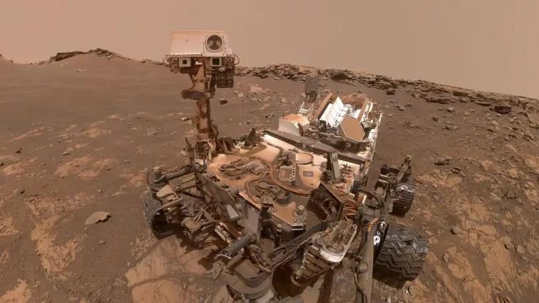 Curiosity Selfie Hutton Drill Site