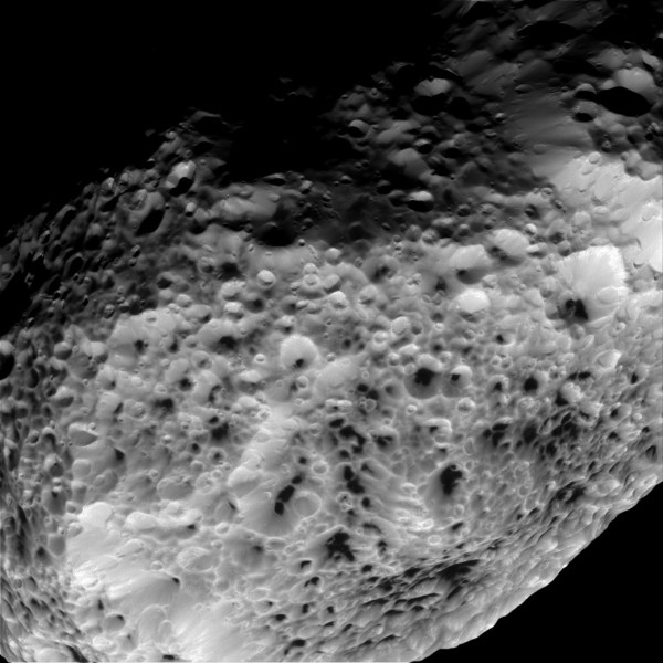 Cassini Sends Final Close Views of Saturn's Moon Hyperion