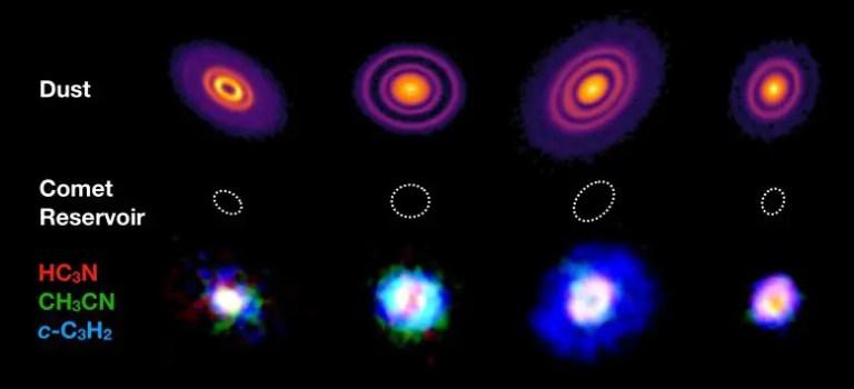 Four Protoplanetary Discs
