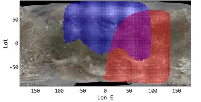 Ganymede Surface Juno JIRAM