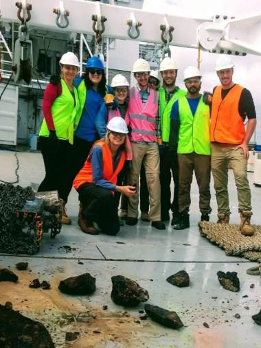 Geophysics Research Team on RV Investigator