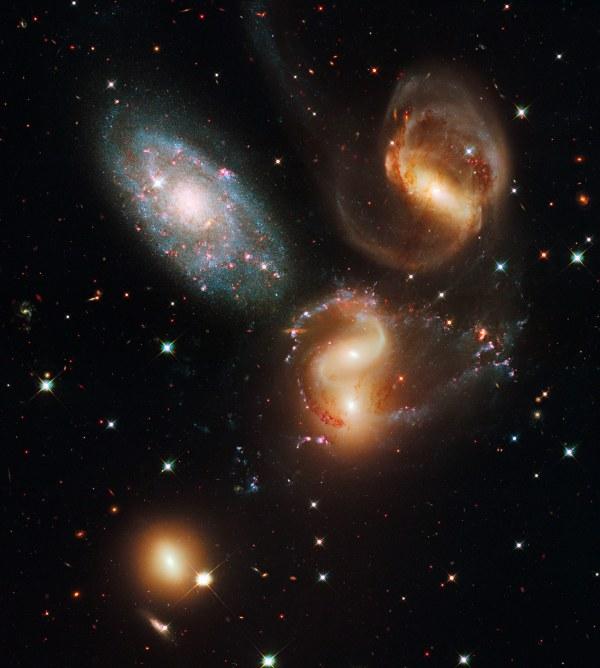 Hubbles View of Stephans Quintet