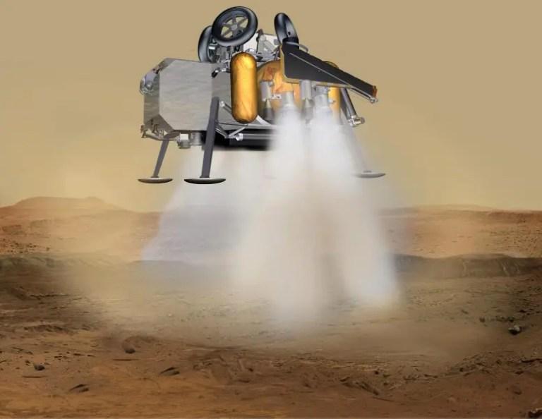 Mars Sample Return Lander Touchdown