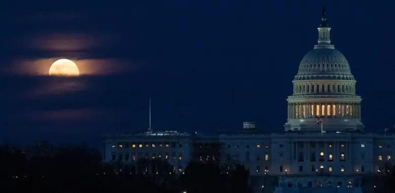 Moon U.S. Capitol