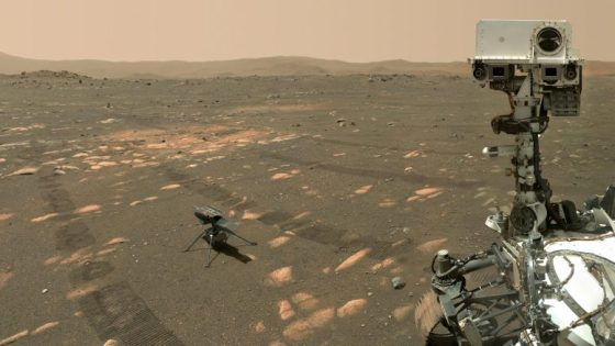 Perseverance with ingenuity on Mars up close