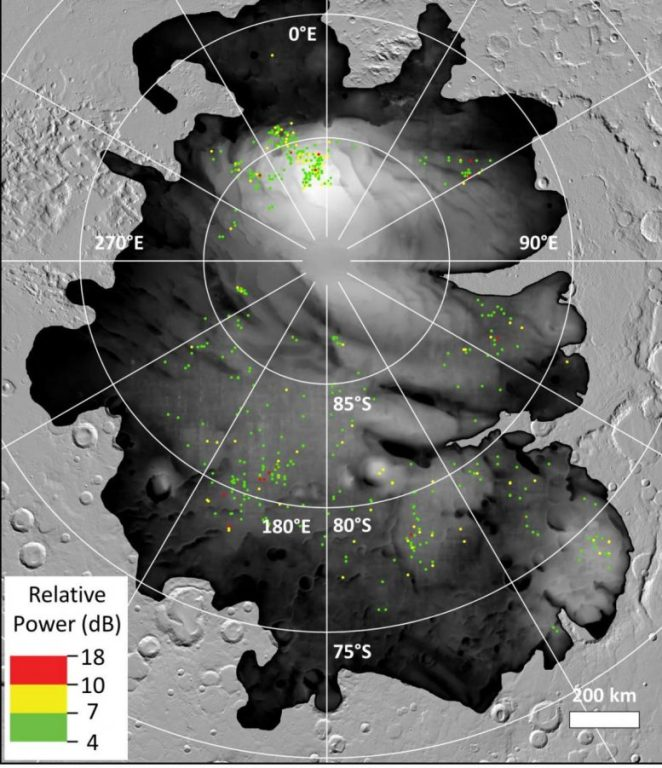 Radar Reflections Mars South Polar Cap