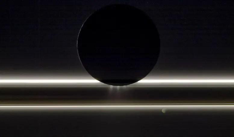 Saturn's Moon Enceladus Drifts