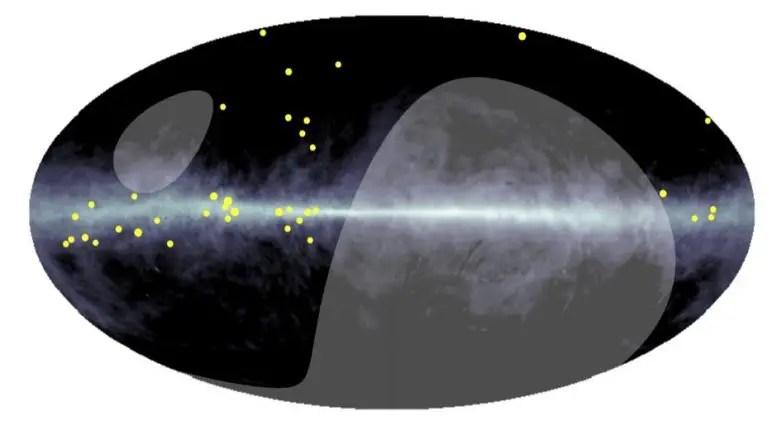 Ultra-High-Energy Gamma Ray Distribution