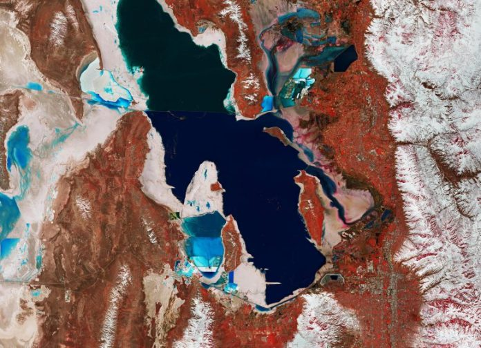 Utah's Great Salt Lake From Space