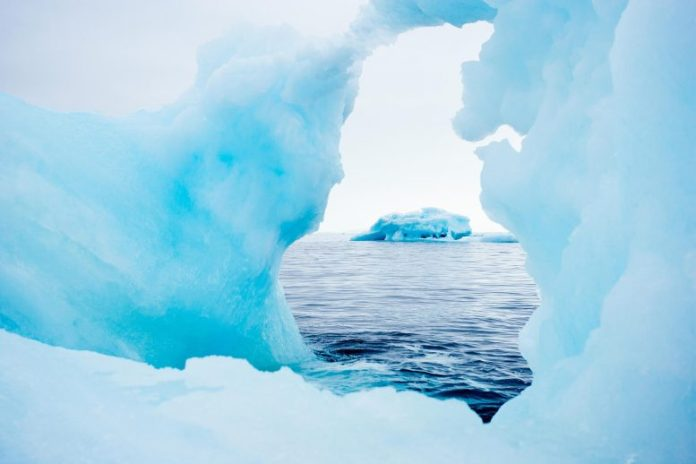Viewing Iceberg Through Hole