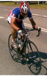 Lars Bo Marcussen på vej i mål