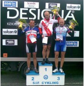 Nr. 1: Bjarne Olsen, Silkeborg IF, Nr. 2: Lars-Bo Marcussen, Sønderborg Cykle Klub, Nr. 3: Flemming Steen, Horsens AC.
