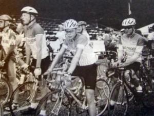 SCKs Juniorryttere til linieløb ved DM. Fra venstre Anders Mortensen, Tonni Johannsen og Kim Ternstrøm.