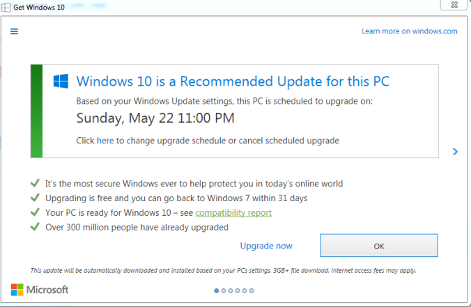 win 10 upgrade 2