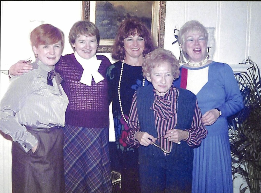 The McCarron Sisters, from left, Joan, Elaine, Maureen, Mary Dolores and their mother, Mary