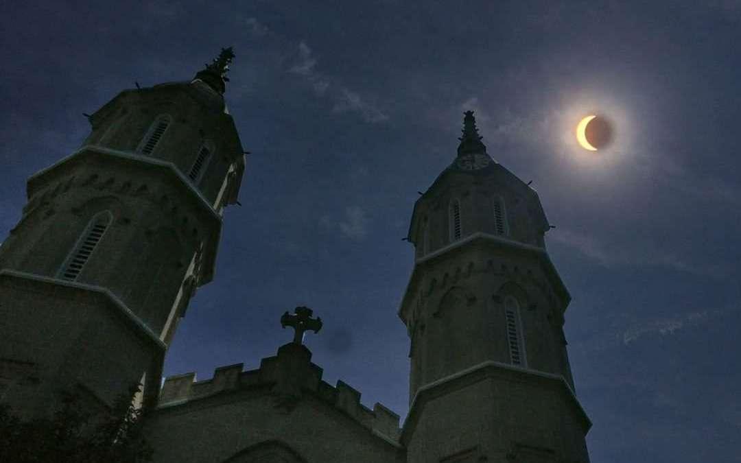 Eclipse of the sun passes over Nazareth