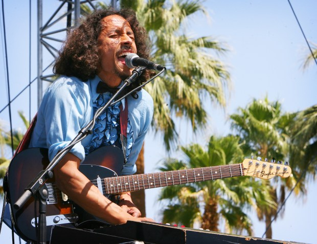 Chicano Batman from Los Angeles plays the Outdoor stage on Sunday, April 12, 2015 at the Coachella Valley Music and Arts Festival in Indio. The Band will perform a New Year's Eve concert in Pomona.