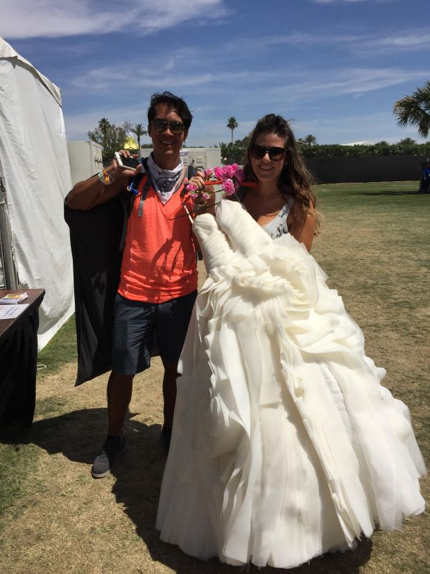 Couple dresses for anniversary photoshoot at Coachella Valley Music and Arts Festival. | Alicia Robinson, SCNG