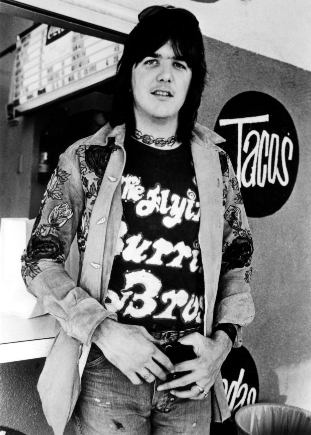ORG XMIT: TNMH601 ** FILE ** Country-rock pioneer Gram Parsons is shown in this undated file photo. The life of Parsons is the subject of two films being shown at the Nashville Film Festival in Nashville, Tenn. April 26-May 2. (AP Photo/The Rhino Records, File)