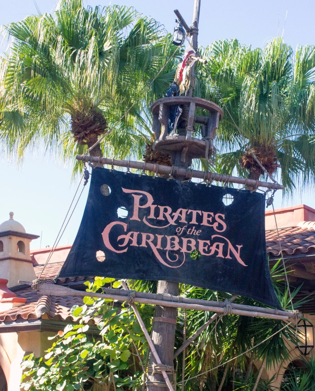 The entrance to Pirates of the Caribbean is located in the Caribbean Plaza section of Adventureland in the Magic Kingdom of Walt Disney World. (Photo by Mark Eades, Orange County Register/SCNG)