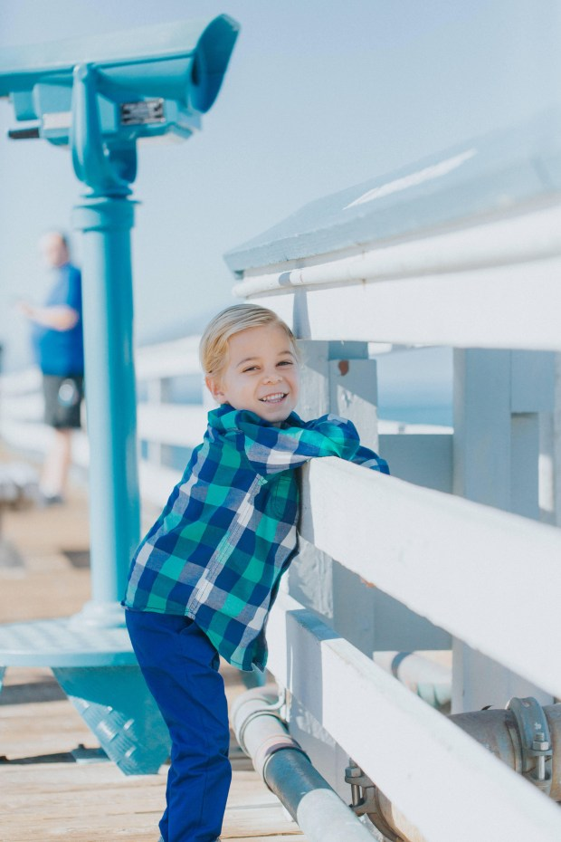 Miles McIntosh, 5, at the San Clemente Pier. (Courtesy of the McIntosh family)