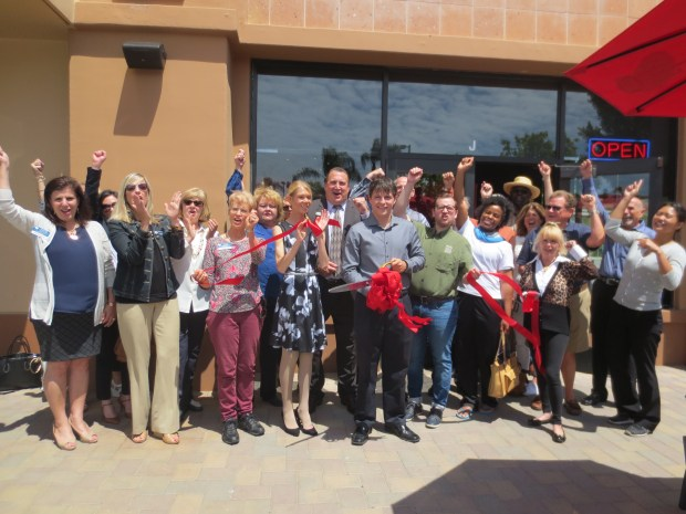 The Laguna Niguel Chamber of Commerce celebrated the opening of Tokyo Joes with a ribbon cutting ceremony. (courtesy of LNCC)