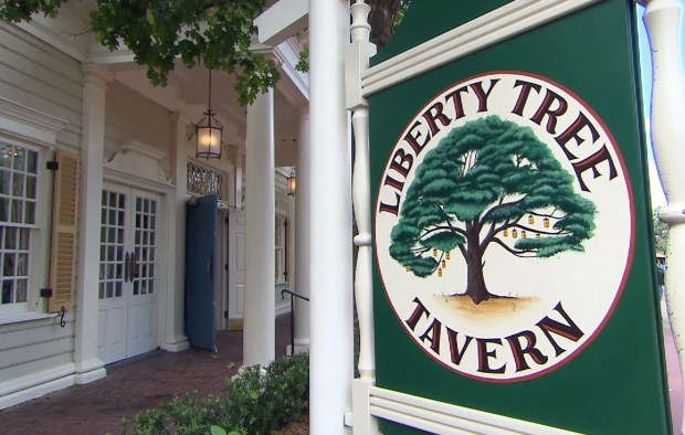 Liberty Tree Tavern evokes a tavern from the Revolutionary War era in America. It is a sit-down restaurant in the Liberty Square area of Walt Disney World's Magic Kingdom. There are six historically themed dining rooms in the restaurant. Reservations are suggested. (Photo by Courtesy, Walt Disney World Resort)