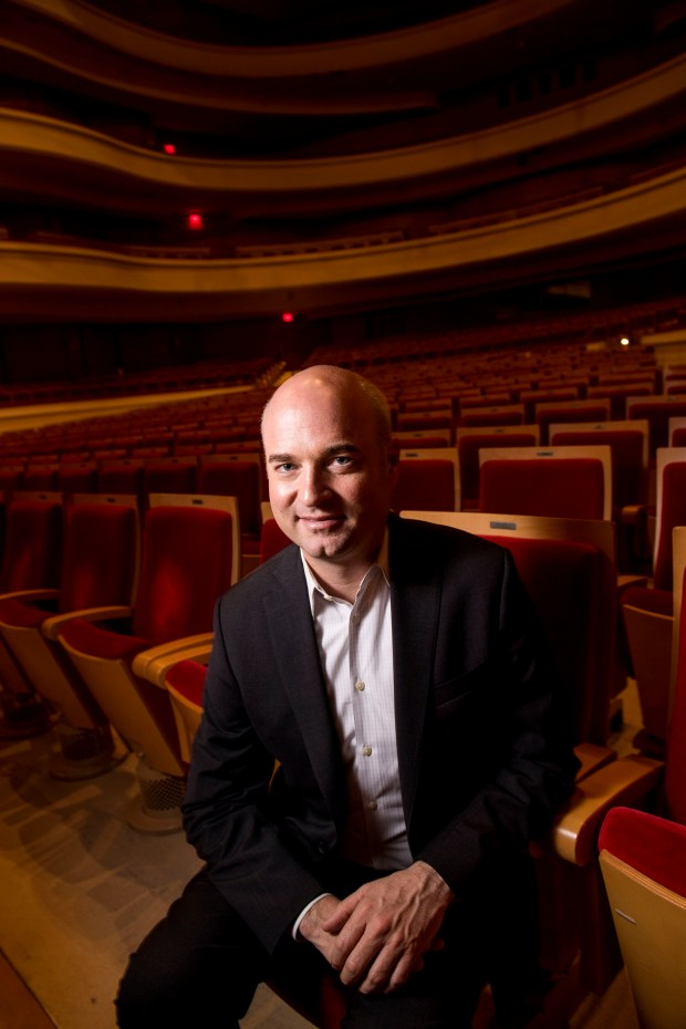 Pacific Chorale Assistant Conductor Robert Istad in Costa Mesa on Tuesday, May 2, 2017. Istad will replace John Alexander as the new artistic director when Alexander steps down in June after 45 years.(Photo by Paul Rodriguez, Orange County Register/SCNG)