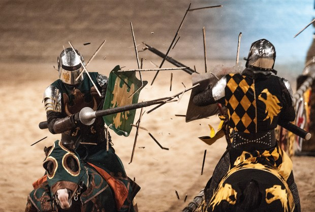 You can get a free dinner and a show at Medieval Times if you go with someone paying the full adult rate. (Photo by Nick Agro, Orange County Register/SCNG)