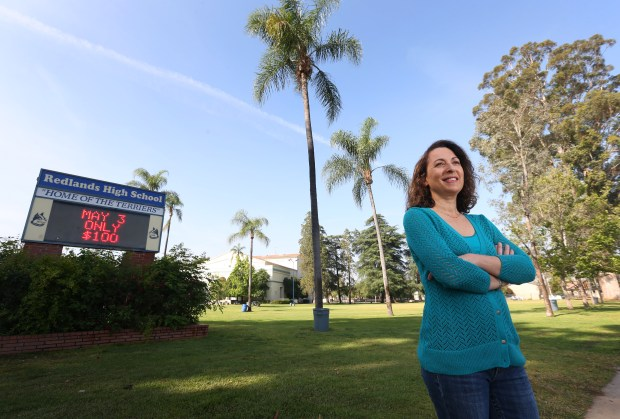 Lisa Lewis is a leader of Start School Later, which supports a bill to push back school start times in California to no earlier than 8:30 a.m. The average start time is 8:07 a.m. but many schools have zero periods beginning at 7 a.m. or even earlier.(Stan Lim, The Press-Enterprise/SCNG)