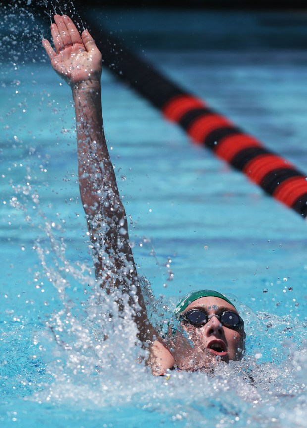 Chaparral's Liberty Gilbert in the girls 100 backstroke during the CIF-SS Division 2 finals at Riverside Aquatics Complex in Riverside, CA. Saturday, May 13, 2017. TERRY PIERSON,THE PRESS-ENTERPRISE/SCNG