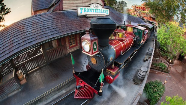 The Frontierland Station of the Walt Disney World Railroad that takes riders on a complete trip around the Magic Kingdom theme park. There are four steam locomotives that service the line, with stops in Frontierland, the Fantasyland station and the Main Street U.S.A. station. (Photo courtesy: Walt Disney World Resort)